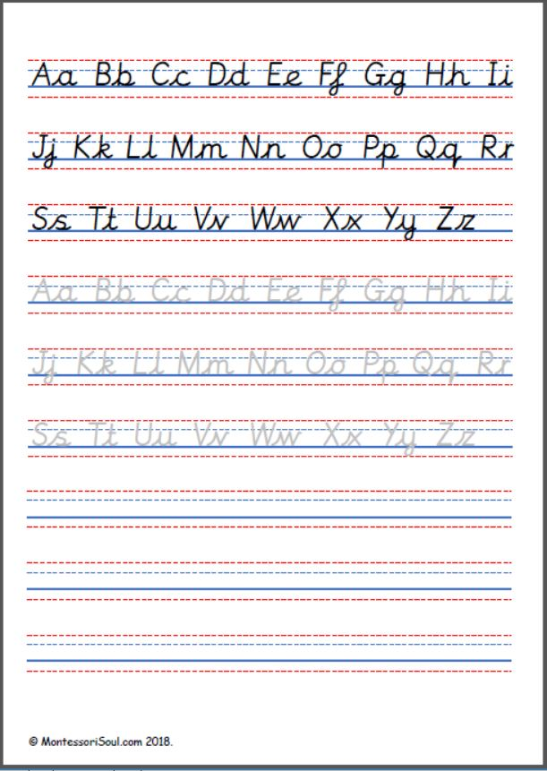 Handwriting practise – Capital and lowercase cursive letters