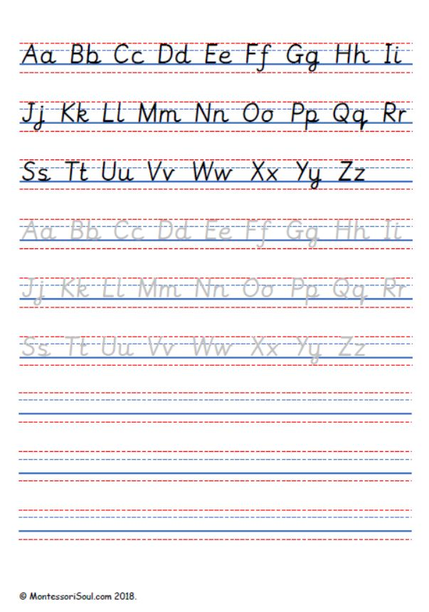 Handwriting practise - Capital and lowercase letters