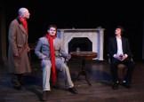 The mysterious Mr Robins talks - (Dr. Watson (Paul Noga), Robins (Samuel Pollin), and Sherlock Holmes (Matt Sims)
