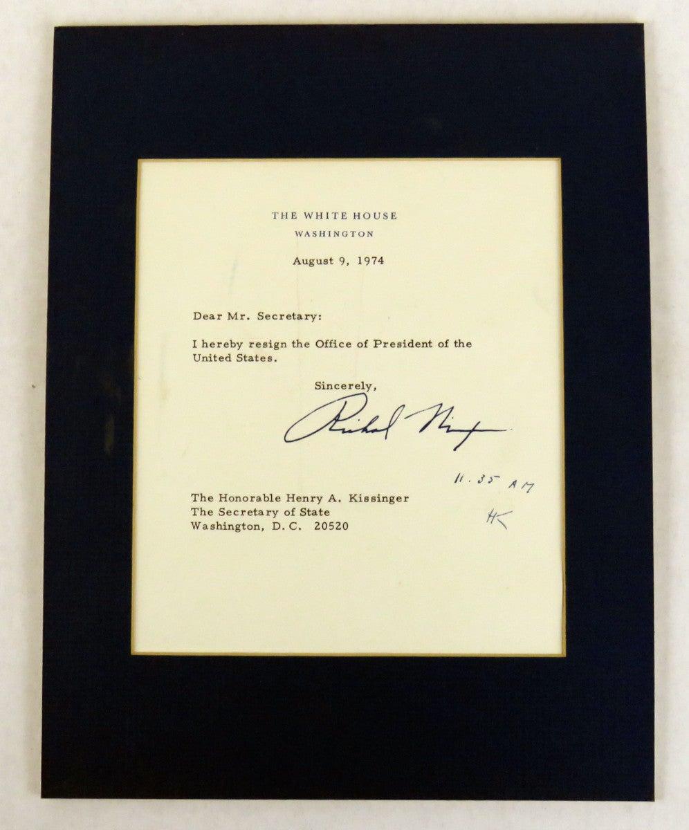 Resignation Letter Richard Nixon Facsimile of Original and Only