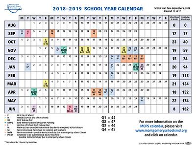 Proposed Calendar 2018-19 - Montgomery County Public Schools
