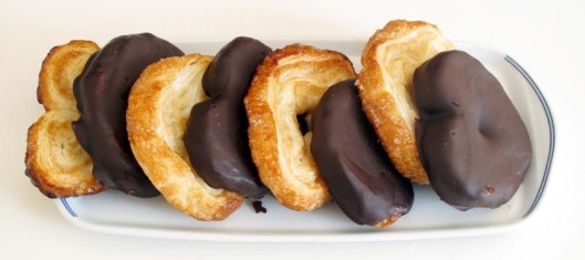 Palmeritas de chocolate y azúcar