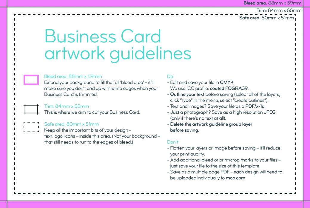 Artwork templates  guidelines MOO (United Kingdom)