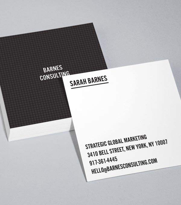 Browse Square Business Card Design Templates MOO (United States) - business card sample