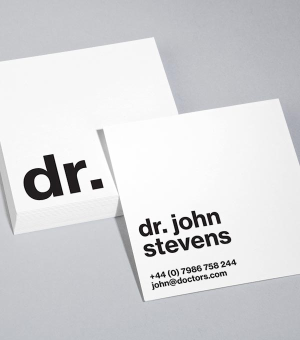 Browse Square Business Card Design Templates MOO (United States)