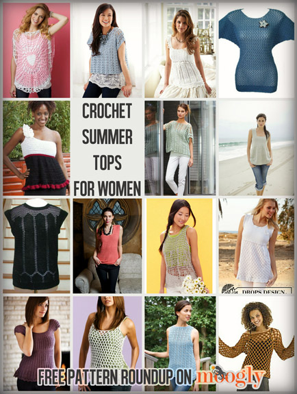 Crochet Summer Tops for Women of All Sizes 15 Free Patterns - moogly