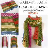 Garden Lace Shawl - Free #Crochet Pattern on Moogly