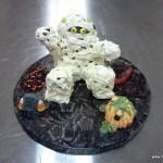 Halloween taart mummie