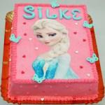 Elza Frozen taart roze