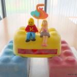 Legotaart 3D kyran blokken