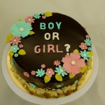 ganache genderrevealtaart