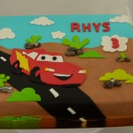 cars tekening taart