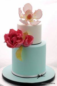 bruidstaart huwelijkstaart kempen geel olen mol balen retie kasterlee westerlo turnhout blauw rozen