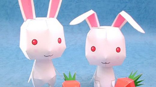 cute-rabbits-and-carrots-paper-model-thumb