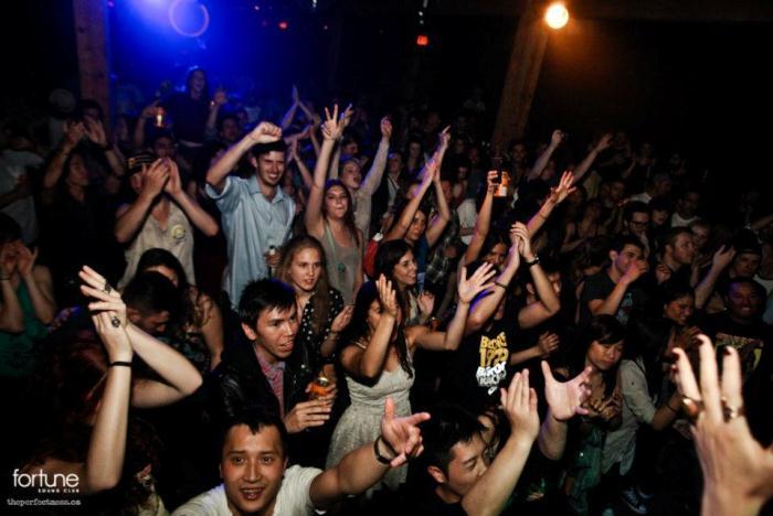 Crowd loving it