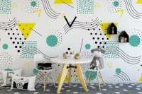 Pop Art Design Repositionable Wallpaper - Moonwallstickers.com