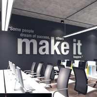 Make it Happen 3D Office Wall Art - Moonwallstickers.com