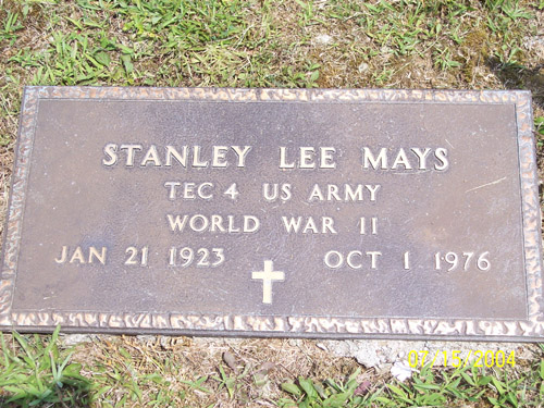 Stanley Mays Grave