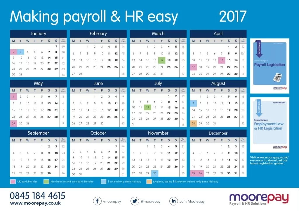 Could the 2015 calendar affect you? Moorepay
