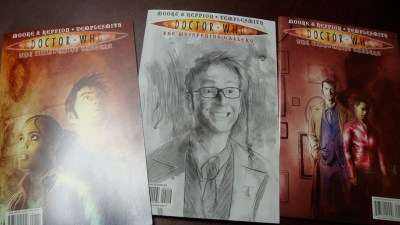 Doctor Who - The Whispering Galley covers by Ben Templesmith