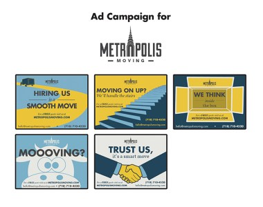 Metropolis Moving flyers