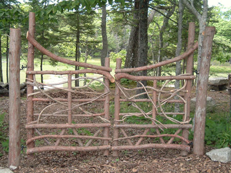 Moosehead Rustic Art Hand Crafted Wooden Gate