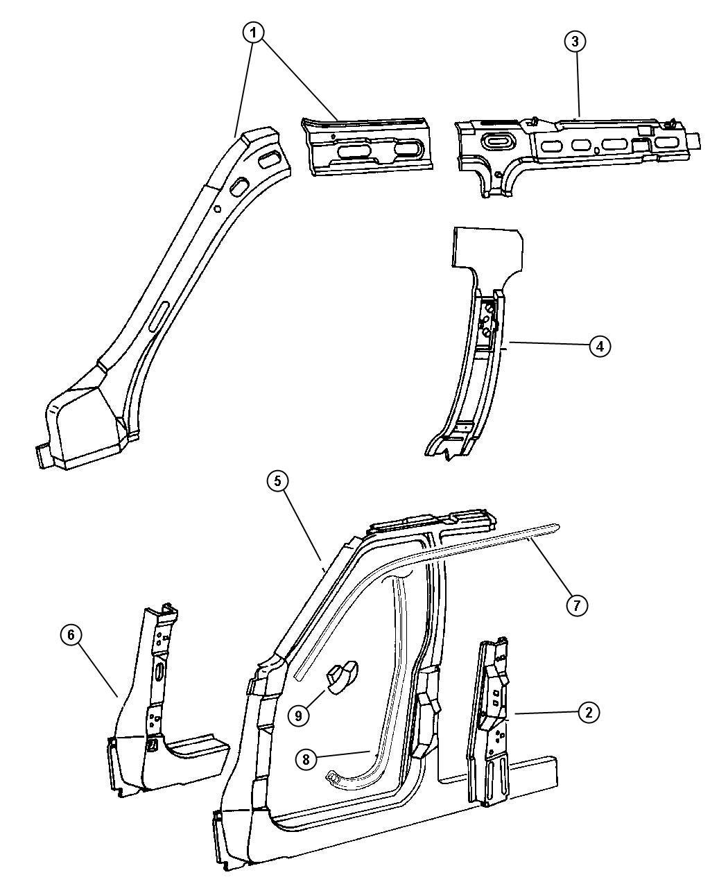 2003 jeep grand cherokee door diagram
