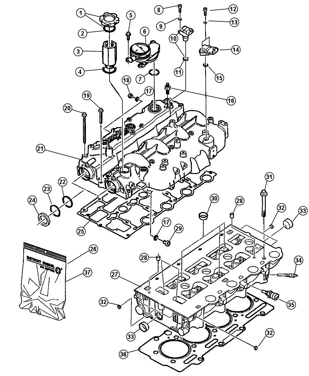 jeep wrangler head kit