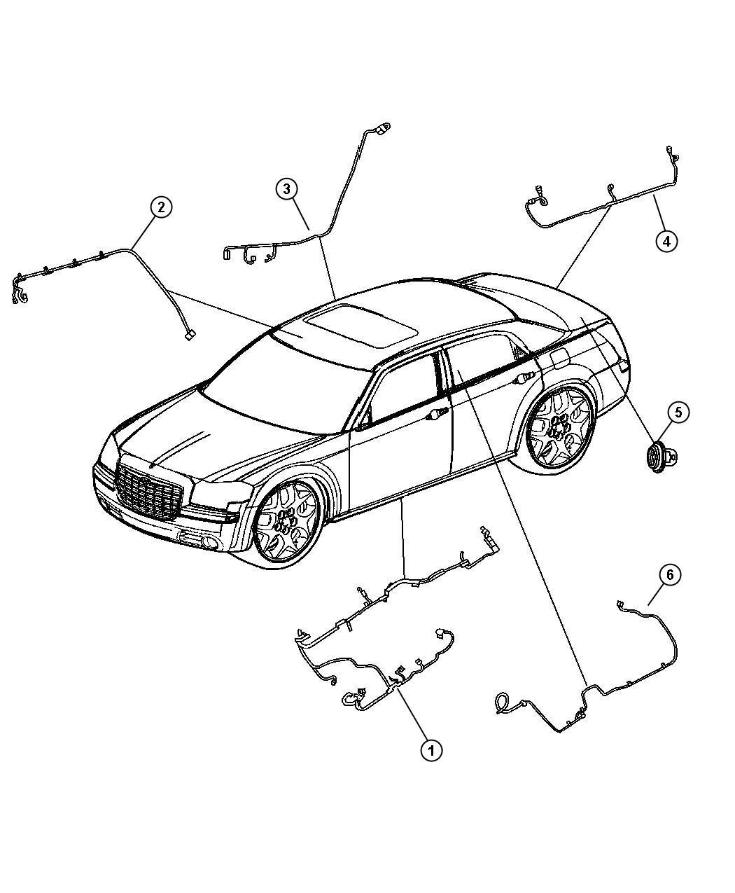 chrysler rear view mirror wiring diagram