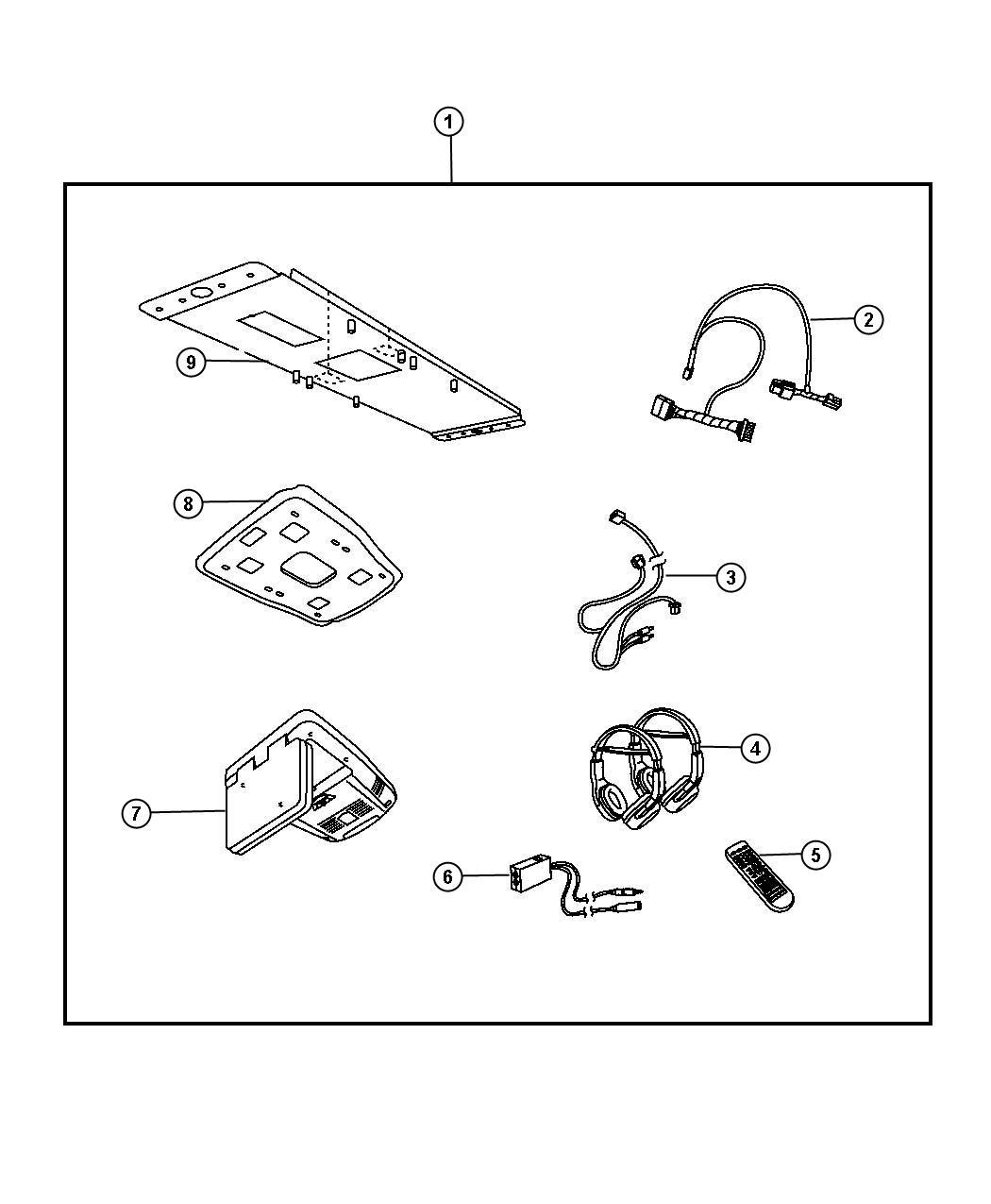 2008 dodge caliber wiring harness 5084455ac