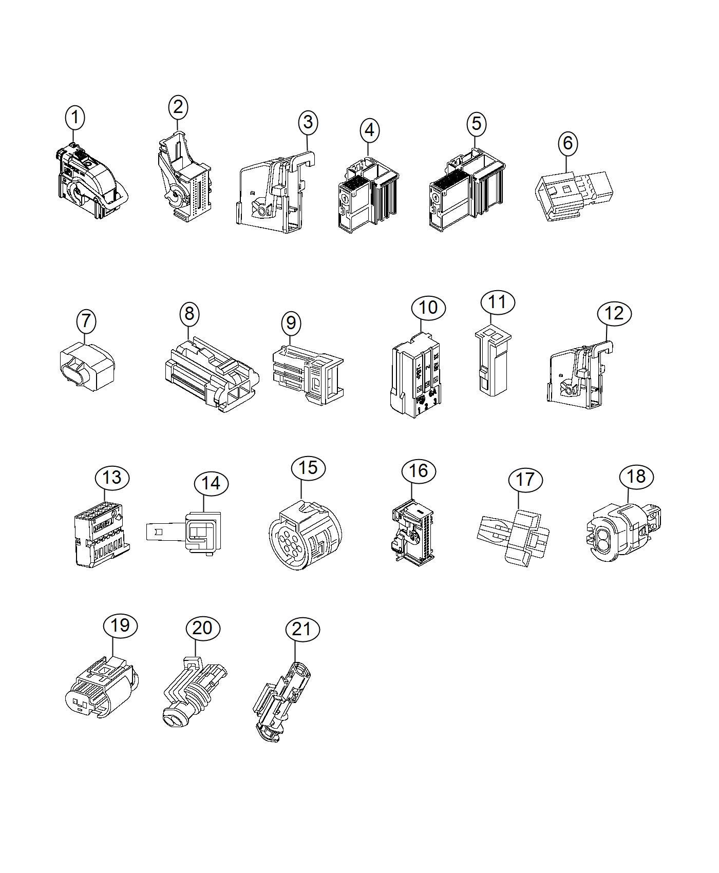 fiat wiring connectors