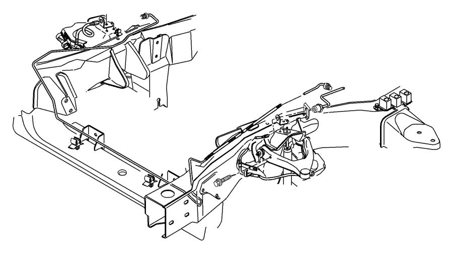 1999 dodge dakota front brake diagram