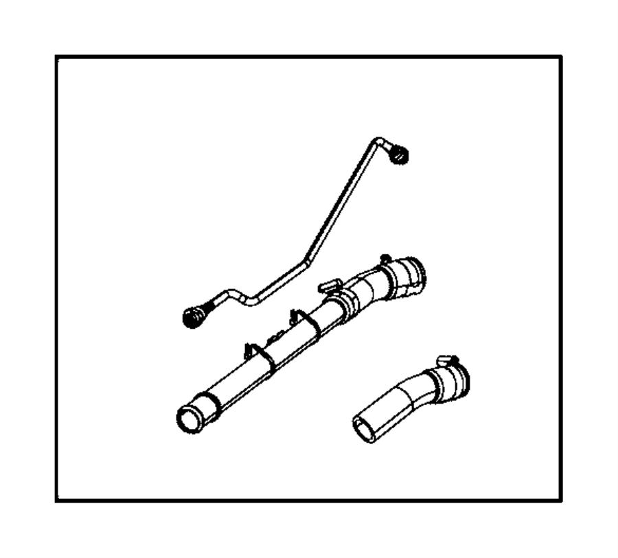 wrangler fuel filler hose extension