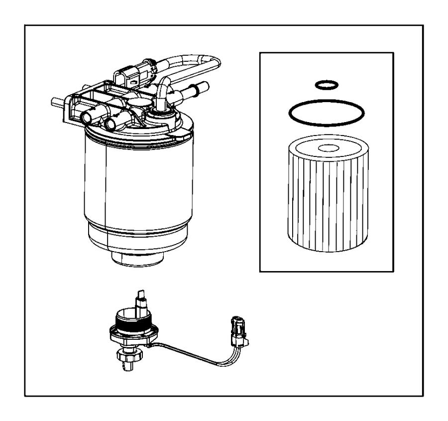 ram 3500 fuel filter housing