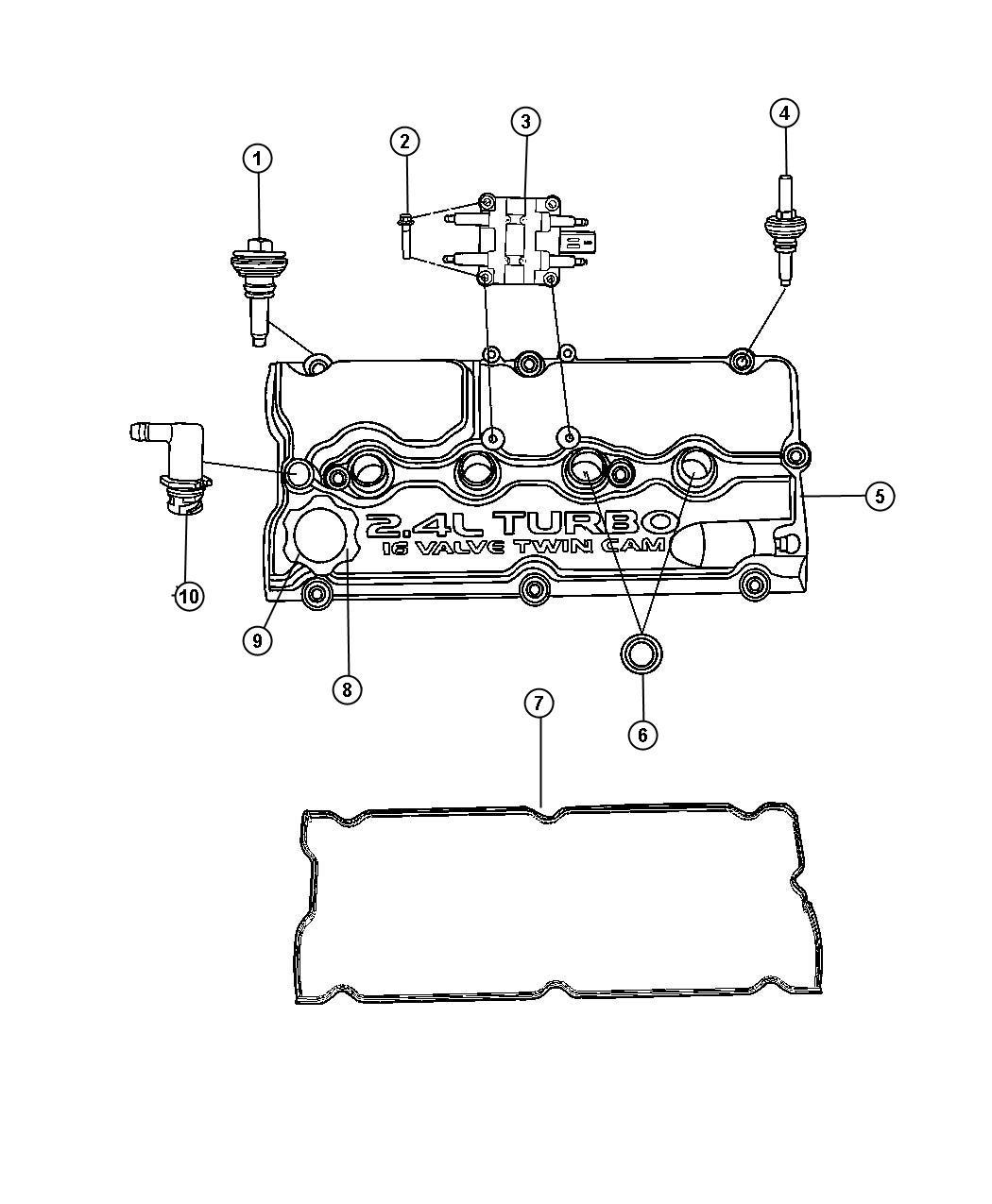 dodge 2 4 dohc engine diagram