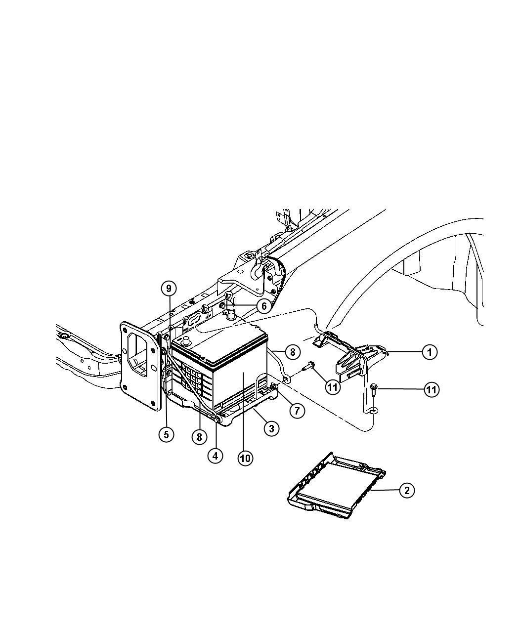 battery wiring diagram besides dodge trailer plug wiring diagram on