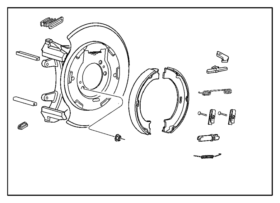 jeep liberty brake parts diagram