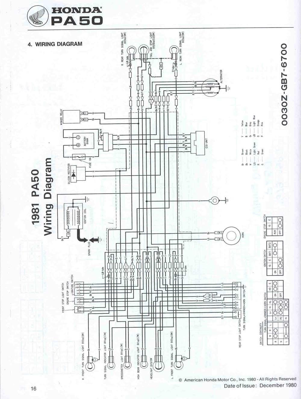 honda hobbit cdi wiring