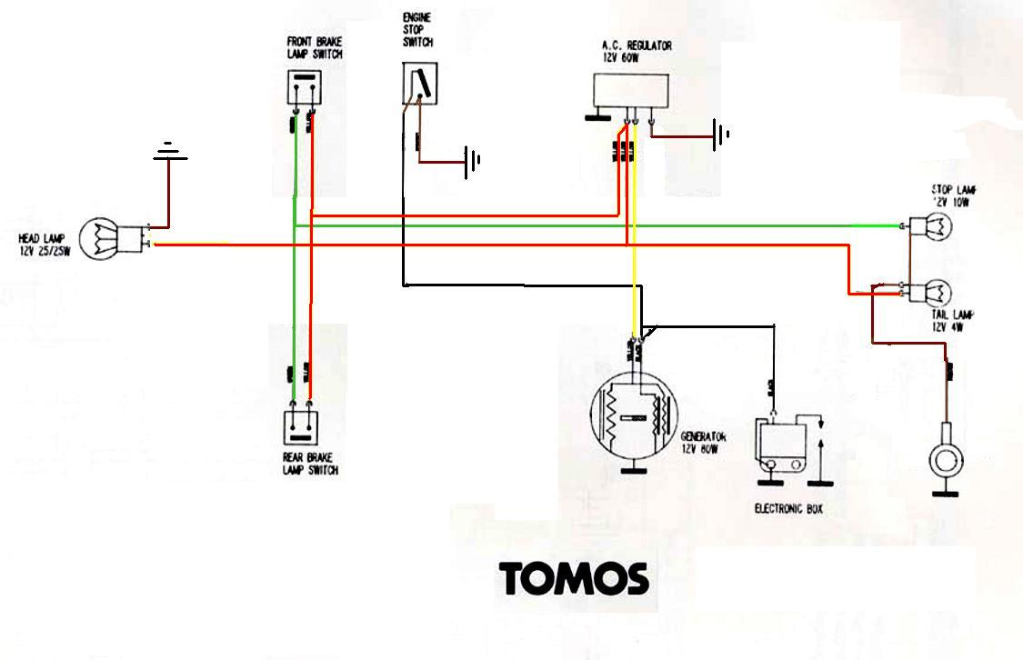 Moped Wiring Diagram Auto Electrical Mercury 4 Cylinder Magnetointernal External Kinetic Parts