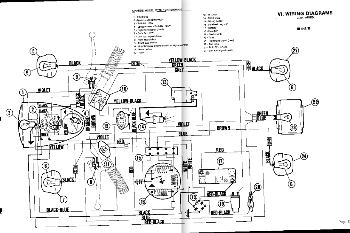 wiring diagram to starter for pronto moped