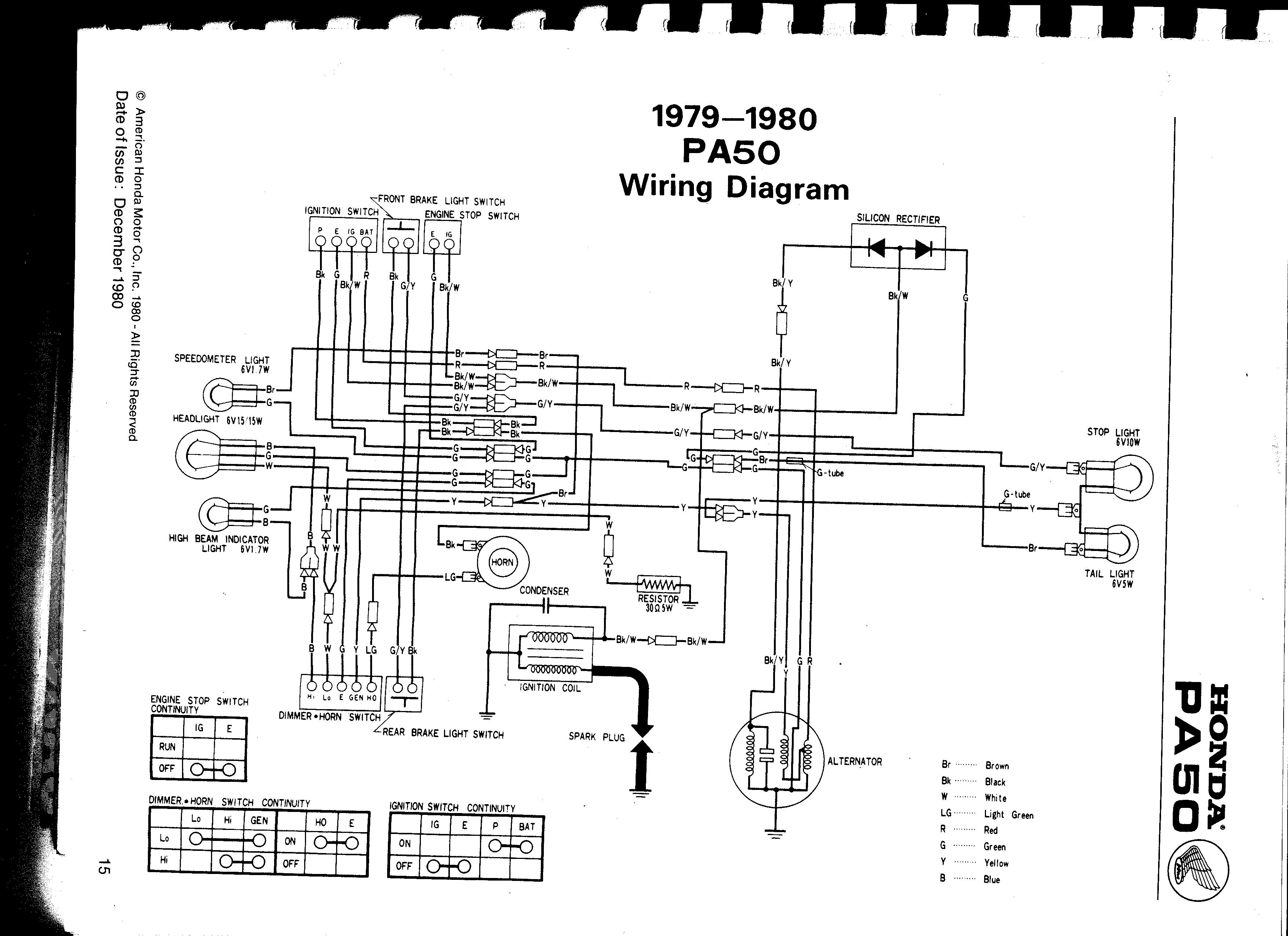 honda 80 wiring diagram