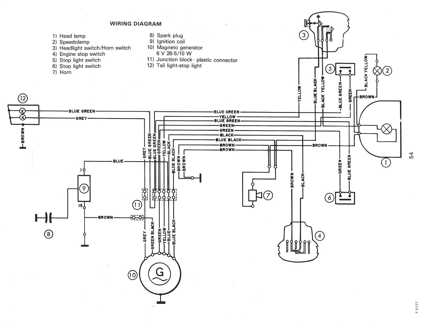 wiring diagram for moped