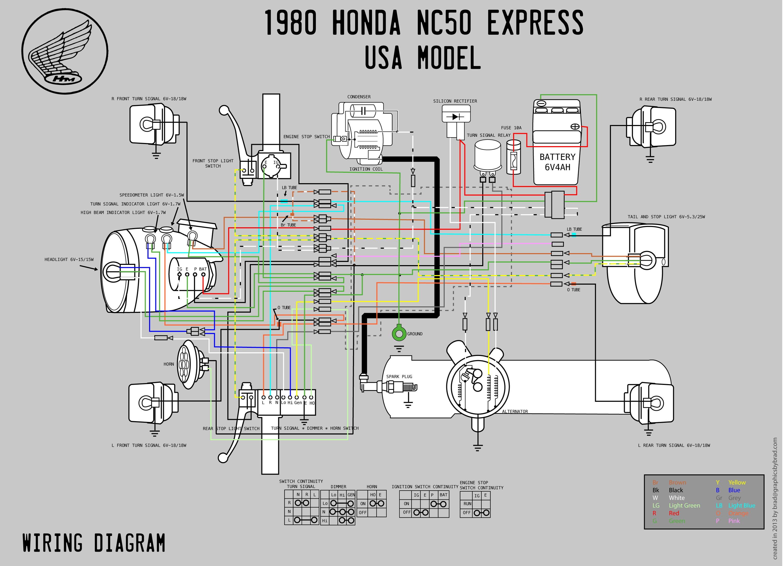 honda nc50 wiring diagram