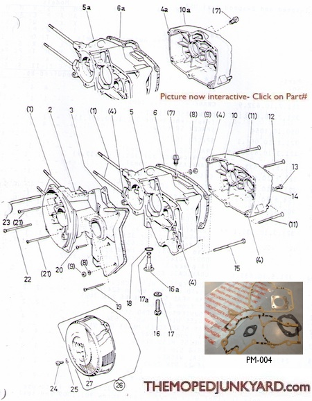 Puch ZA50 2 Speed Case Parts
