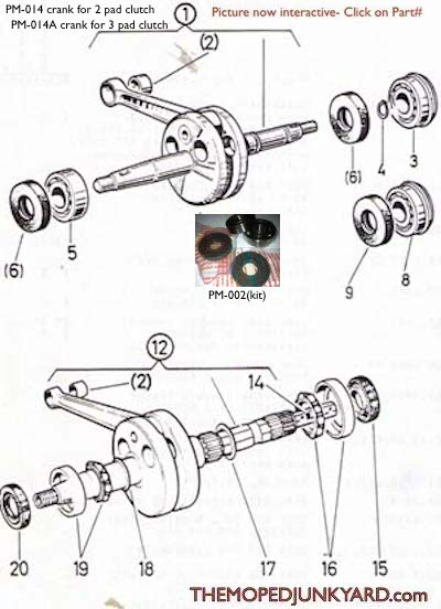 Diagram Reference #P3 - Puch Engine Seals/Bearing