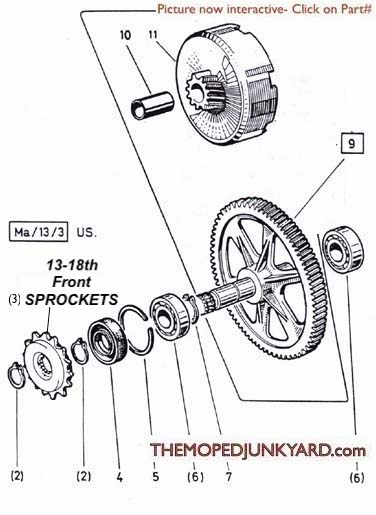 puch transmission parts 1  2 speed (6 Subcategories)