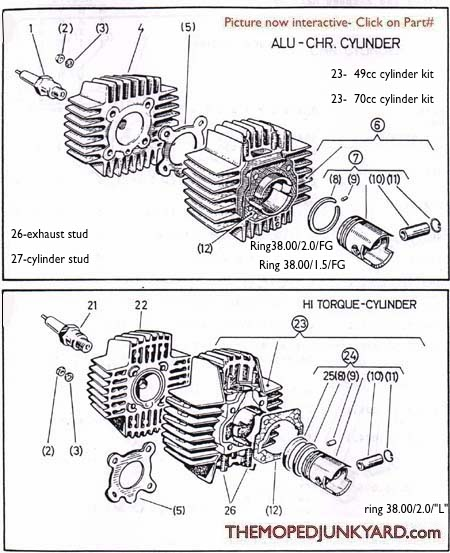 Diagram Reference #P1- Piston/ Cylinder Parts