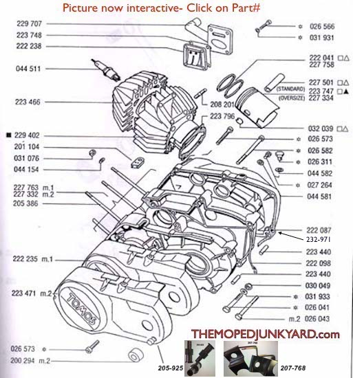 TOMOS piston, cylinder, cases  gaskets (6 Subcategories)