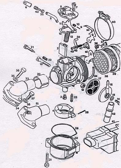 tomos a35 dellorto carb parts diagram ref t7c