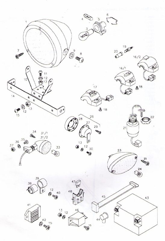 tomos a3 electrical parts diagram ref t9a